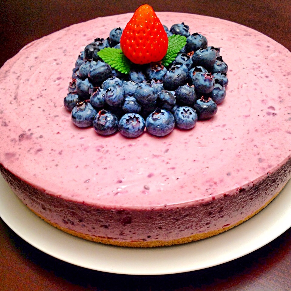 Blueberry rare cheesecake