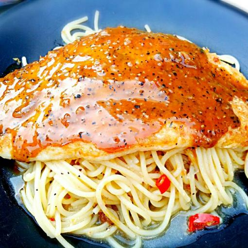 Grilled Fish Fillet with Aglio Olio