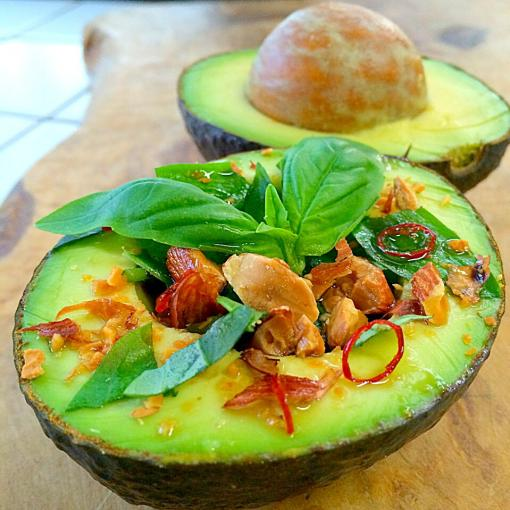 Asian avocado salad