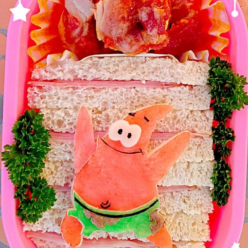 """Patrick"" School Lunch!  キャラ弁 (*^▽^*)"