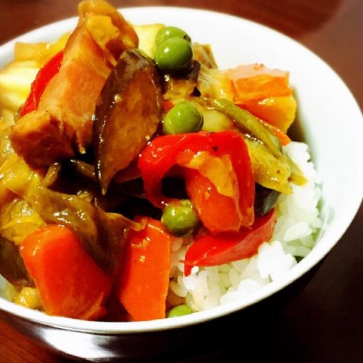 Chinese Style Vegetable Stir fry with Bacon