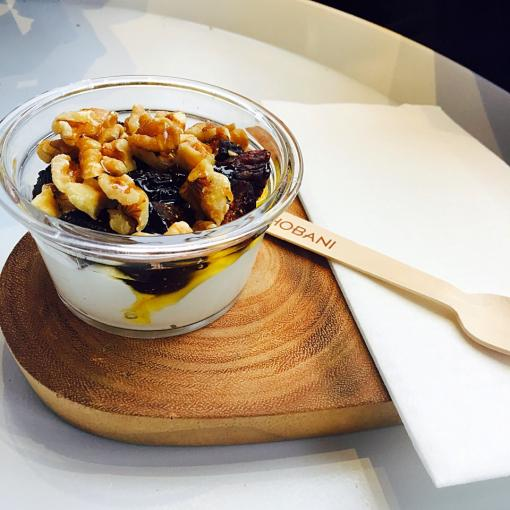 New York eats: Fig & walnut with honey yogurt at Chobani in Soho