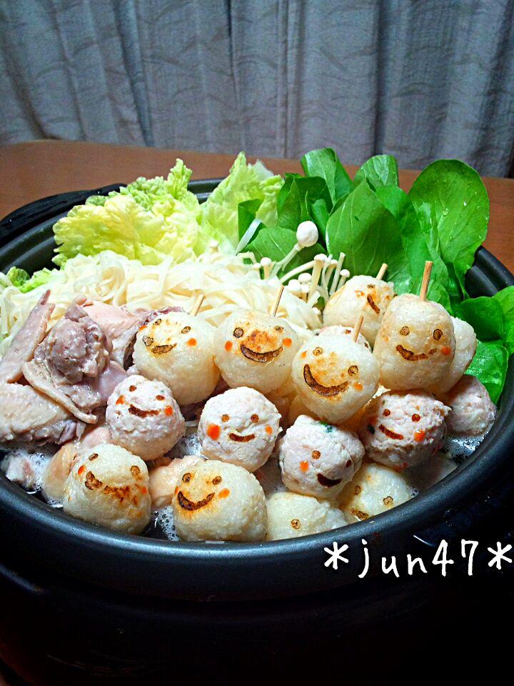 だまこ&稲庭饂飩の鶏鍋♪