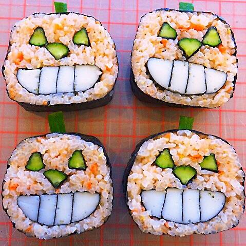 ジャックオランタンの巻き寿司