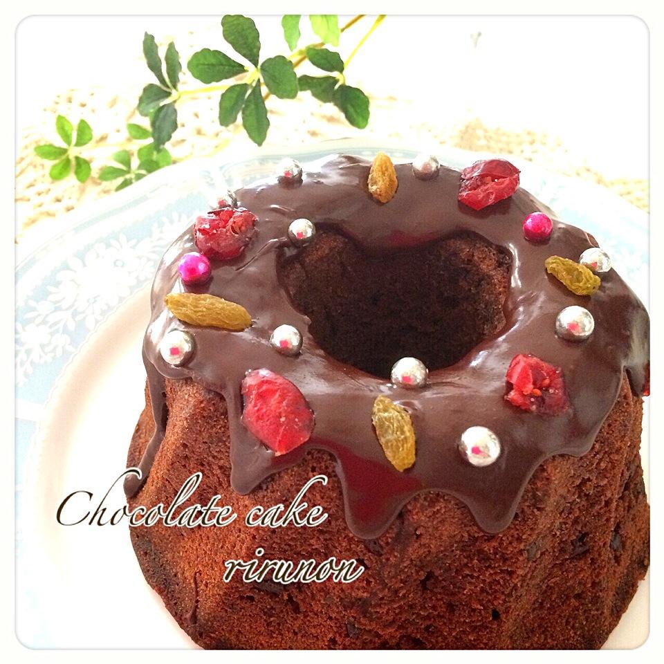 初クグロフ型でチョコレートケーキ