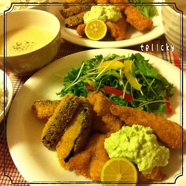 鶏ムネ肉のフライ☆アボカドタルタルソース