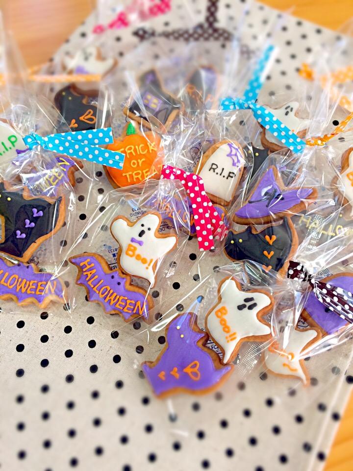 ハロウィンアイシングクッキー☆