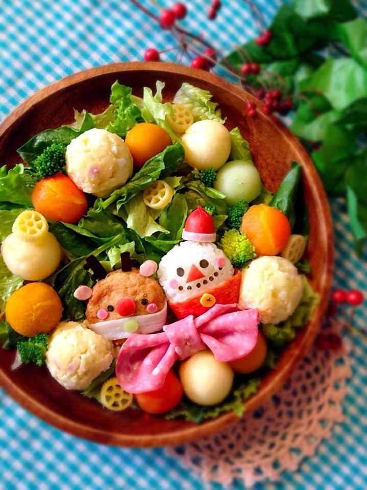 ポテサラ&コロコロ野菜でリースサラダ*