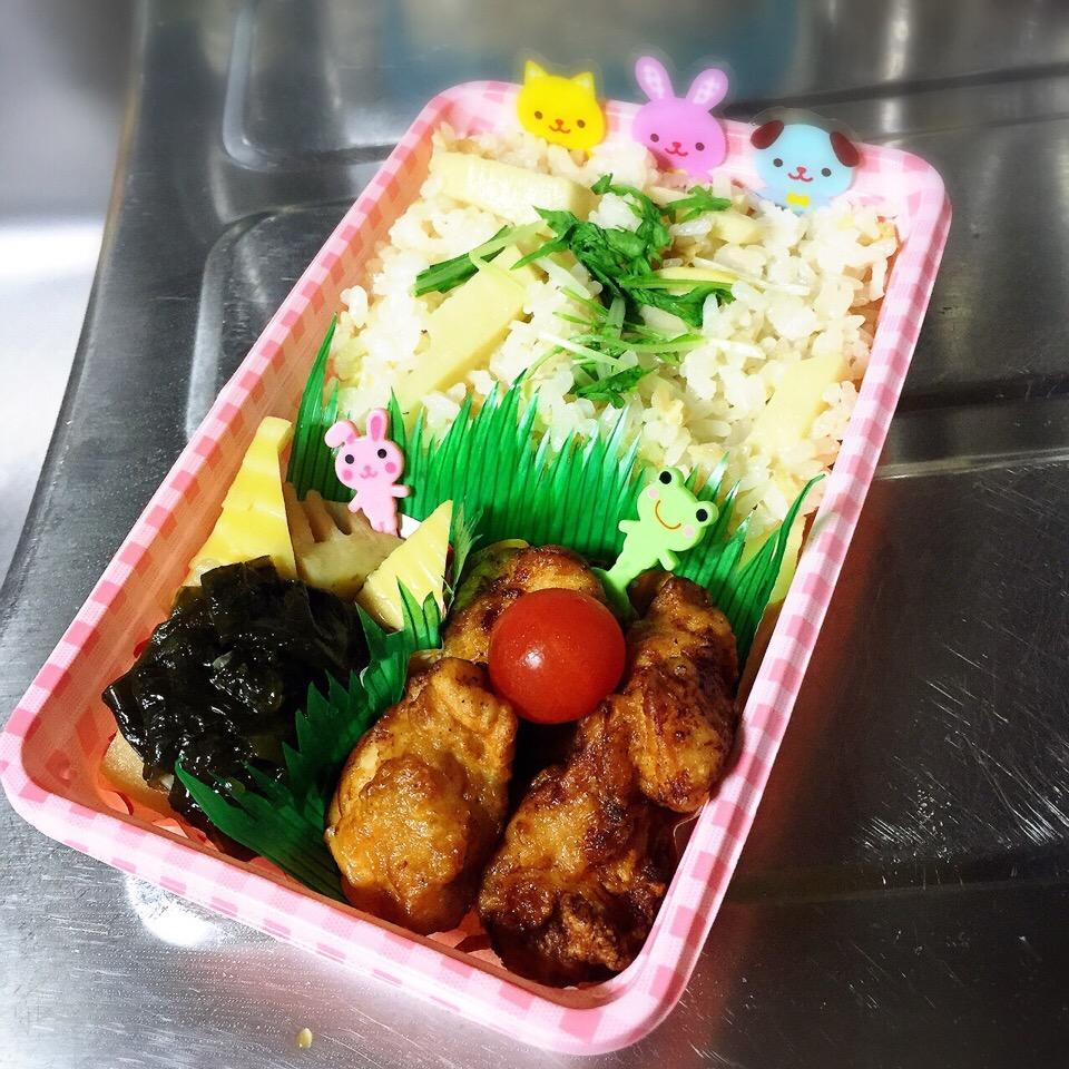 竹の子弁当.ෆ̊౨ೄ೫̥͙‧·*
