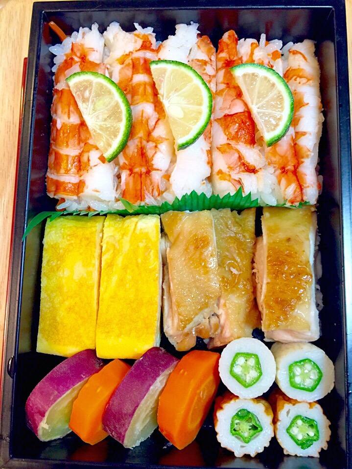 海老の押し寿司弁当