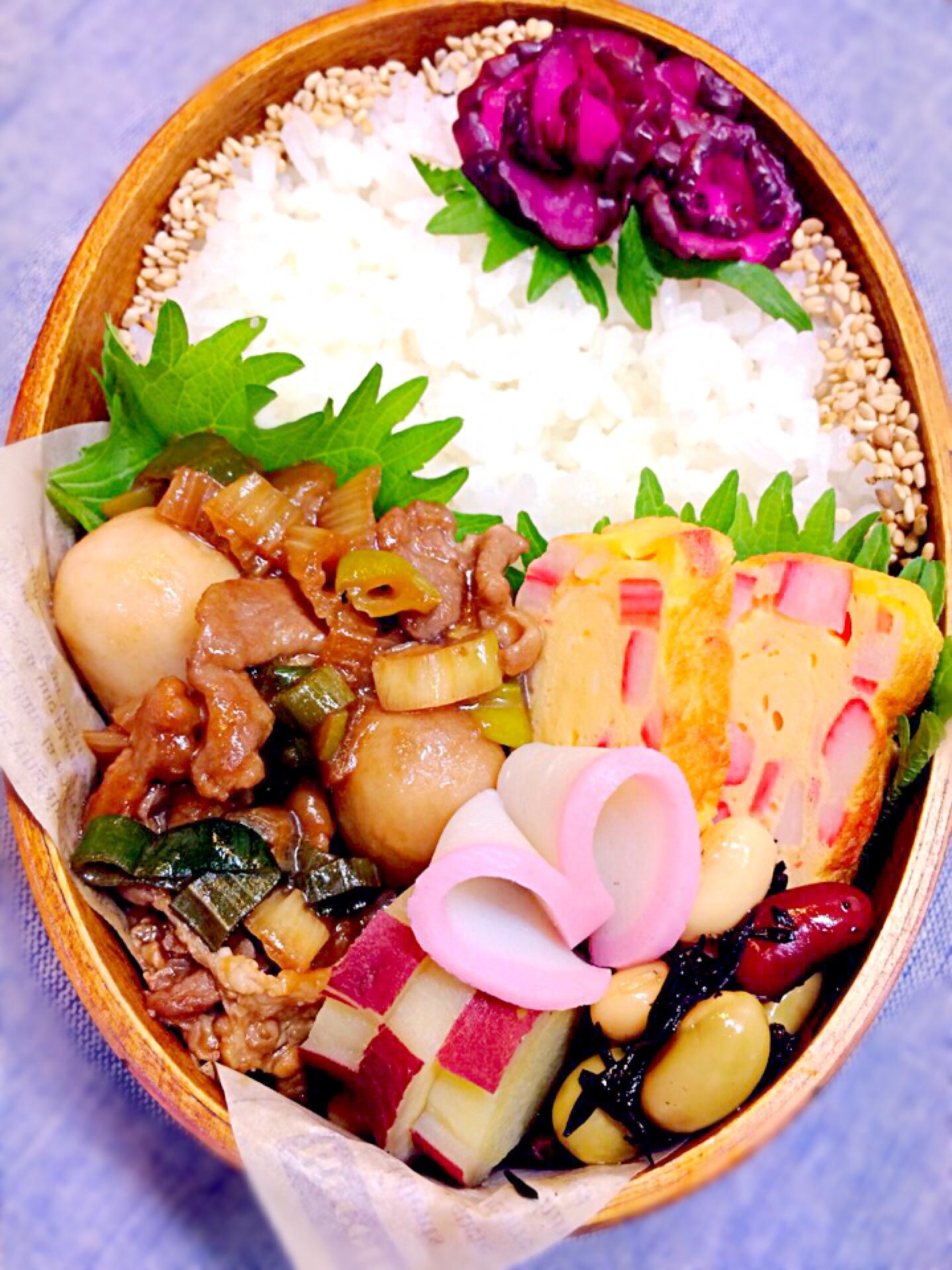 豚肉&里芋&下仁田ねぎの生姜焼き*お弁当