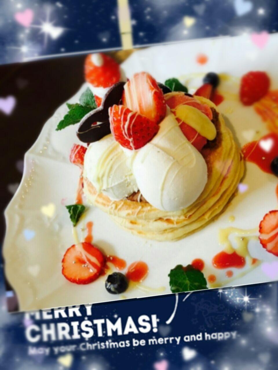 Merry Christmas♡゚ パンケーキで~           MerryX'mas♡゚