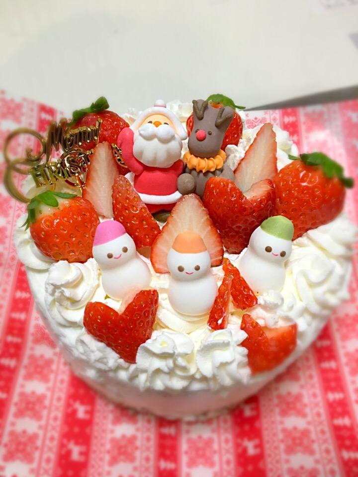 クリスマスケーキ@娘作