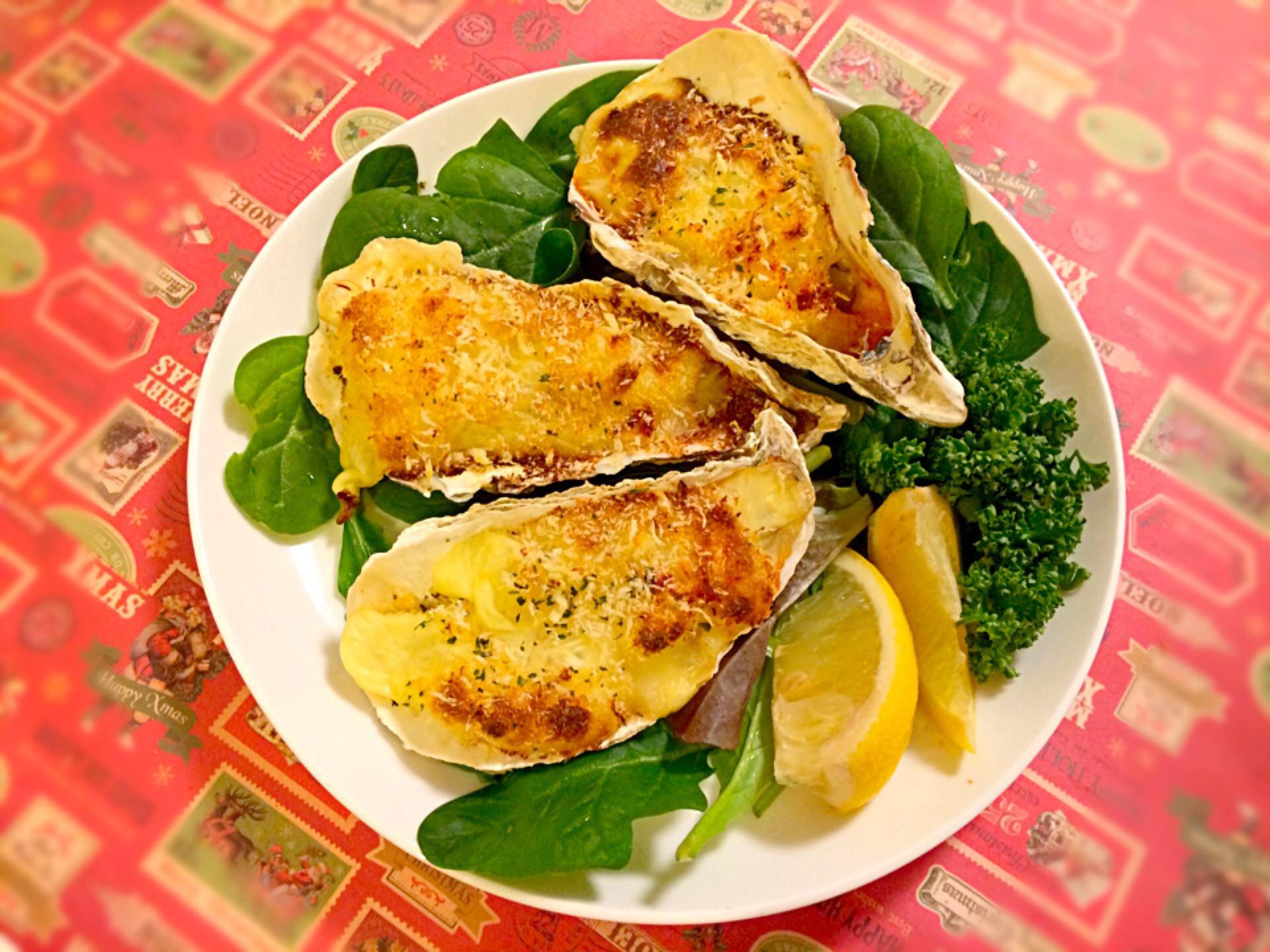 殻付き牡蠣グラタン
