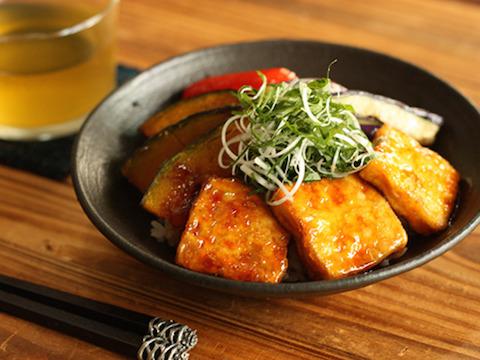 豆腐の照り焼き丼