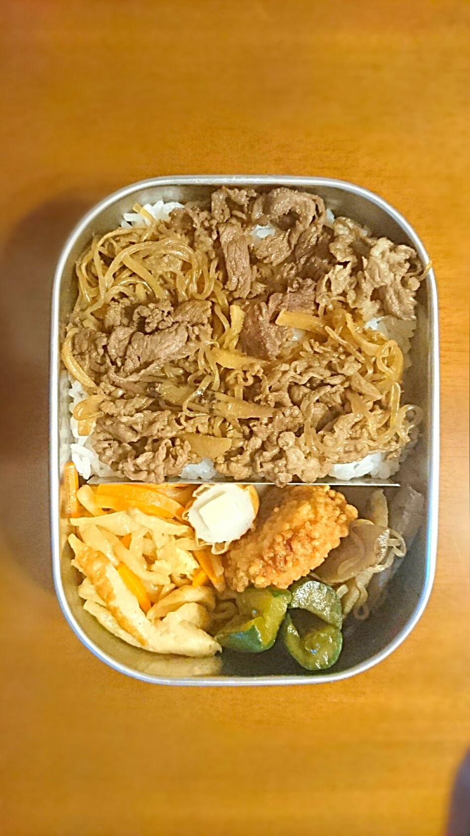 #牛丼弁当 #ご飯大盛