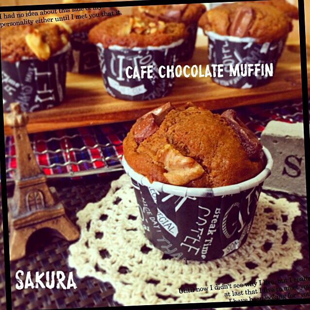 natsumiさんの料理 チョコレートラテマフィン  くるみ入り♡