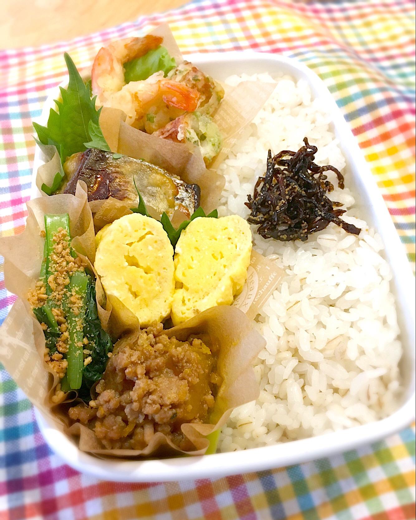 今日のパパ弁当は和食弁当? (簡単レンジだし巻き玉子の作り方あり?)