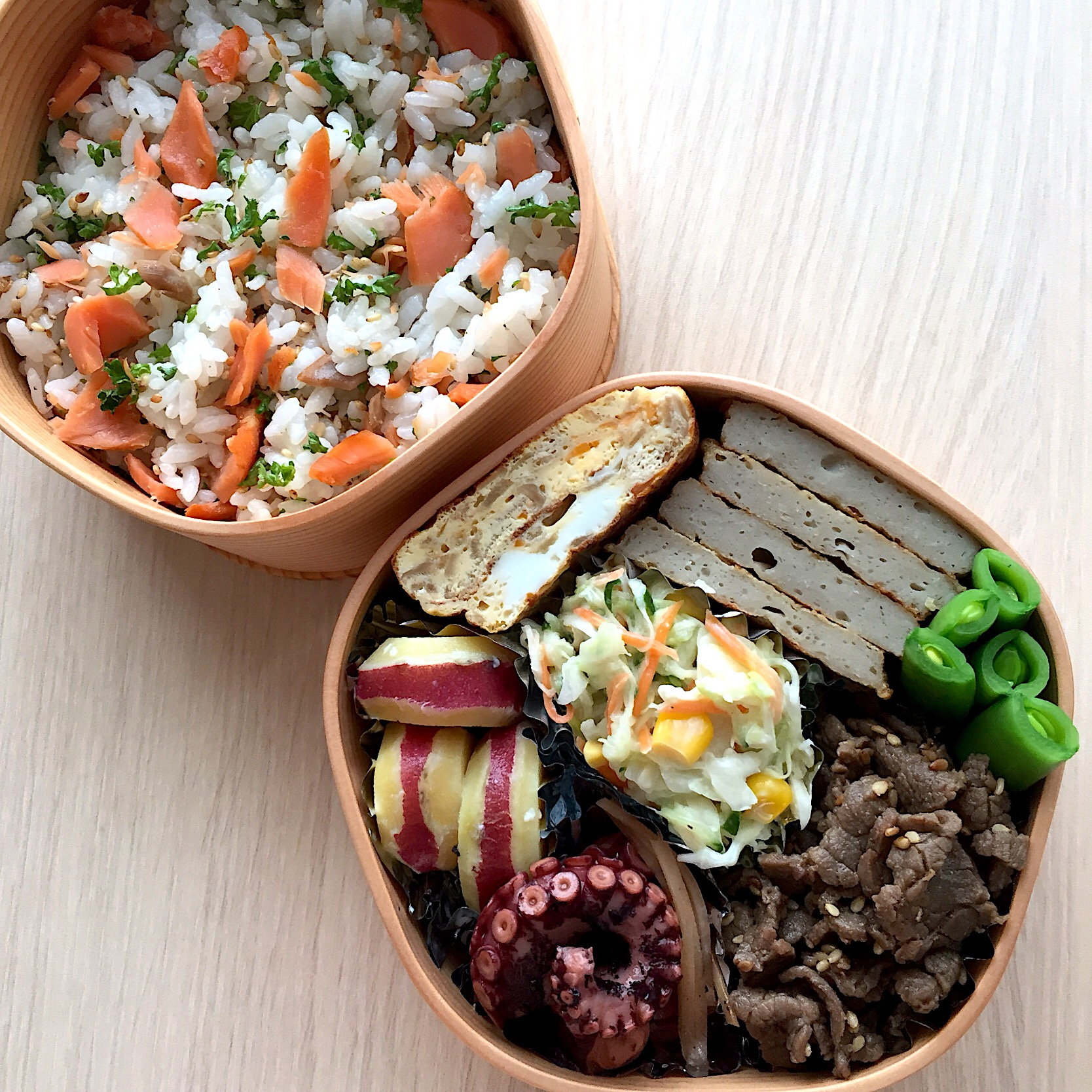 鮭の混ぜご飯弁当