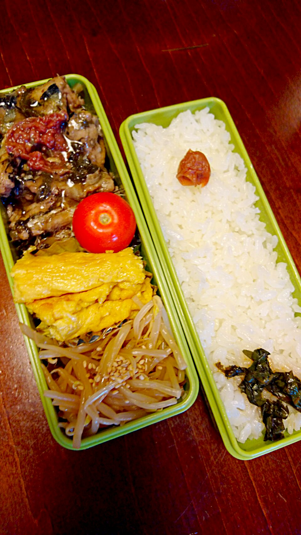 秋刀魚の梅煮弁当