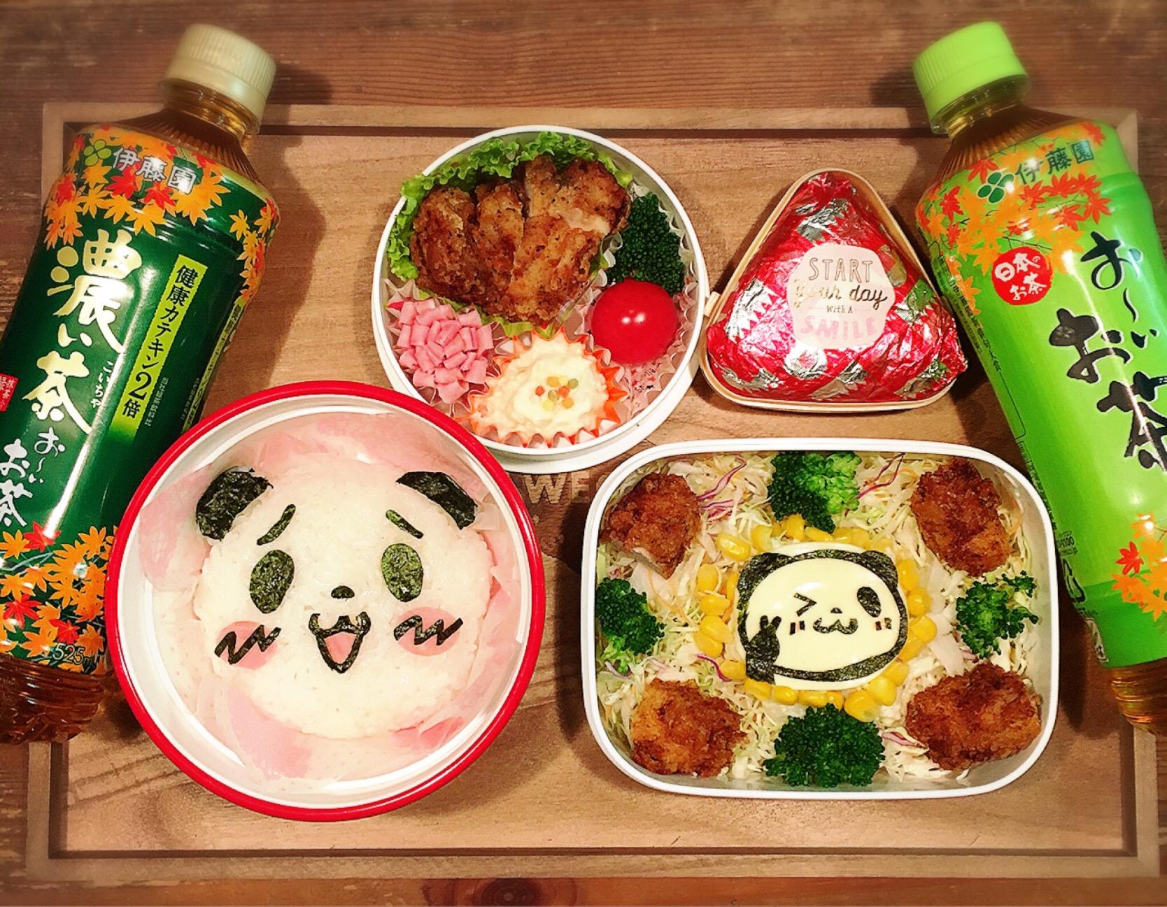 本日のOL弁+JKサラダ弁?? 今日は、楽天お買いものパンダ?✨✨
