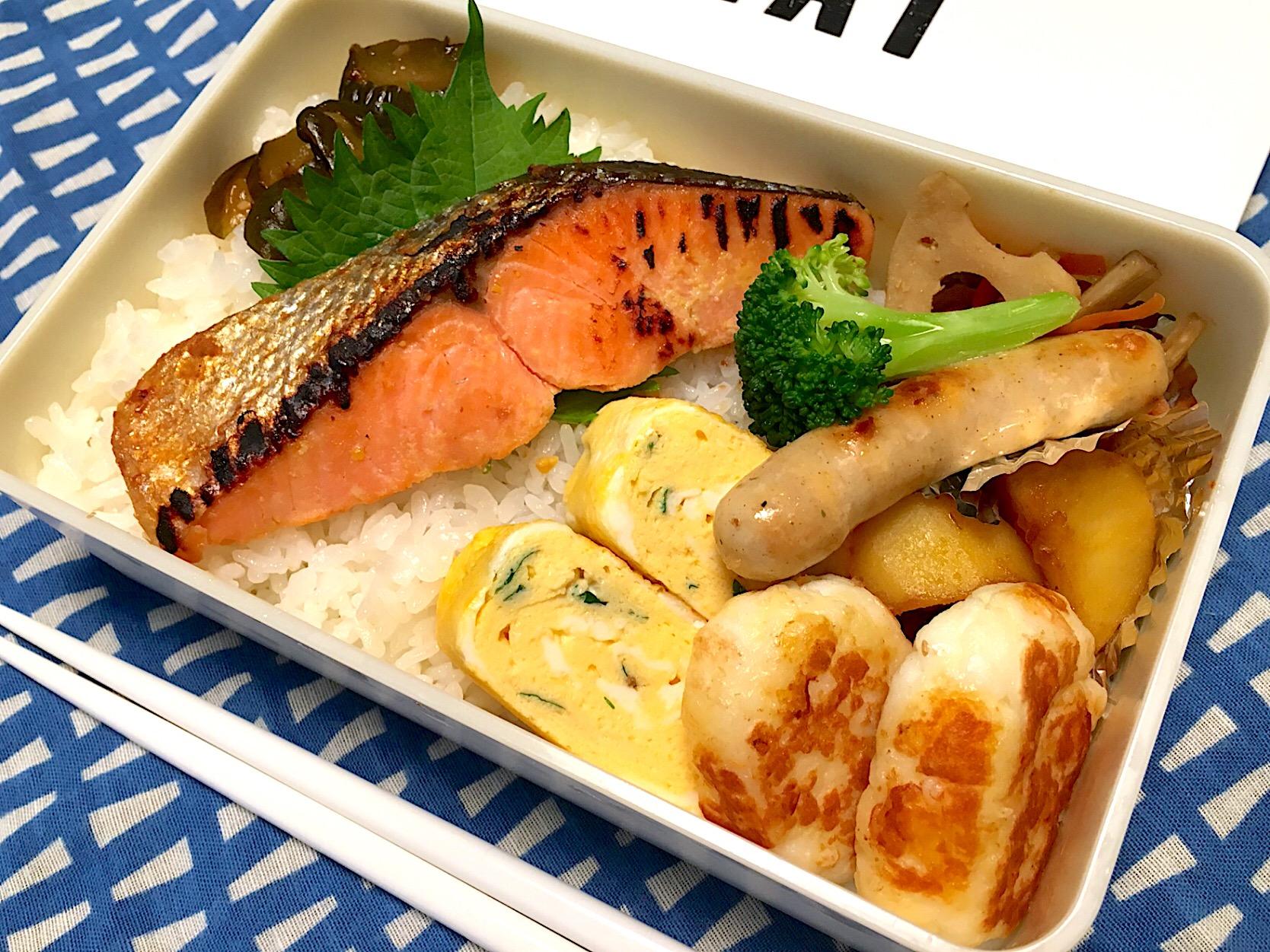 紅鮭の西京焼きのお弁当。