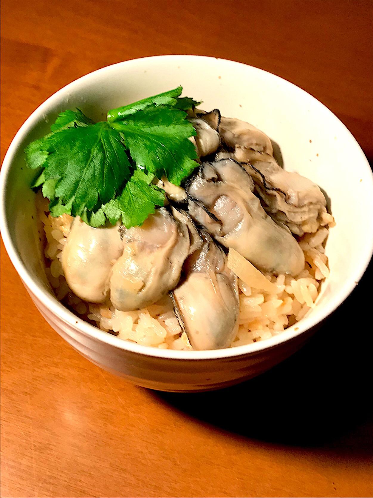 味噌と生姜の牡蠣めし?