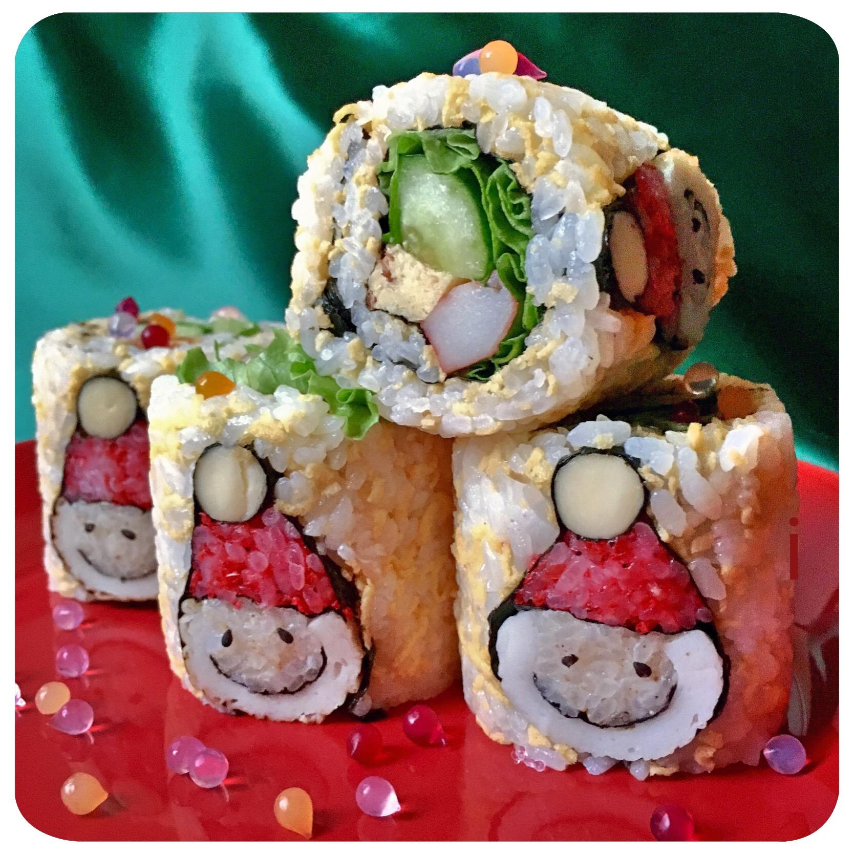サンタ巻き寿司?