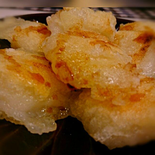 #我が家の一品料理 余っていた切り餅を 簡単おつまみ揚げ餅~