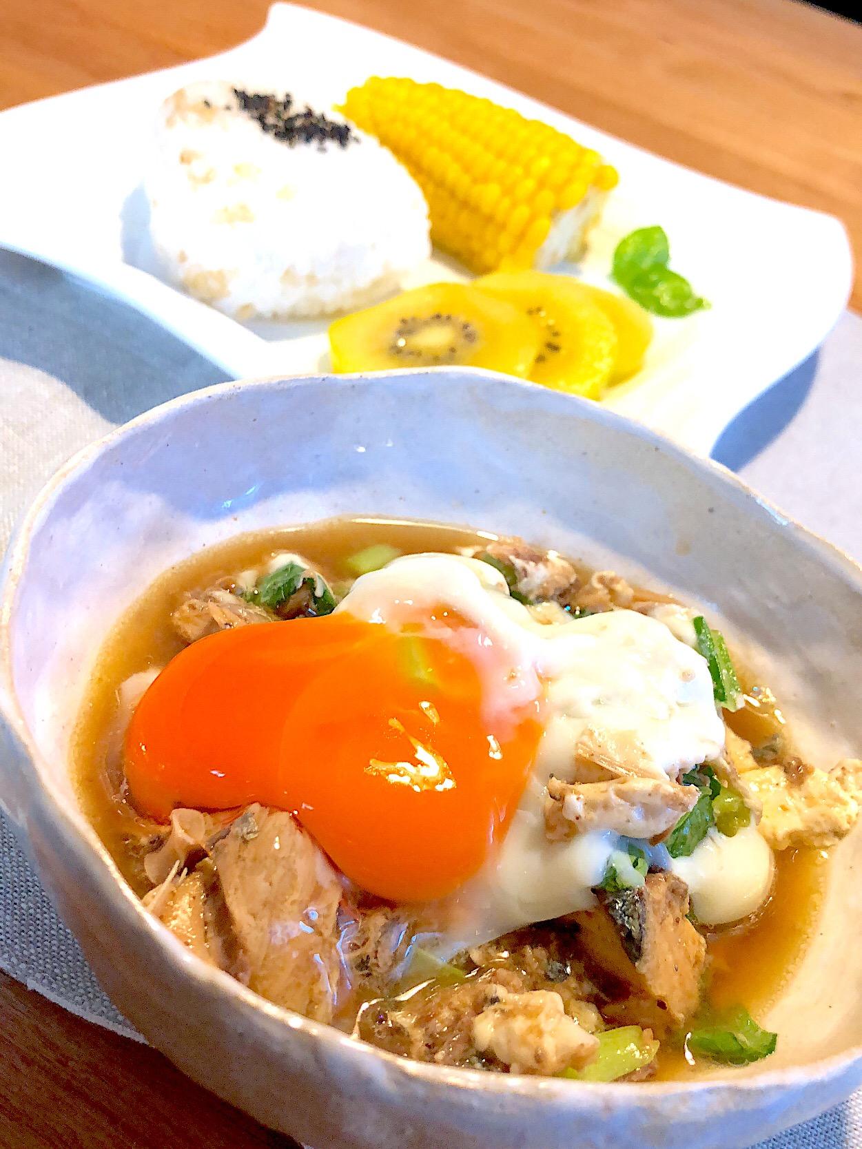 鯖煮卵とじ