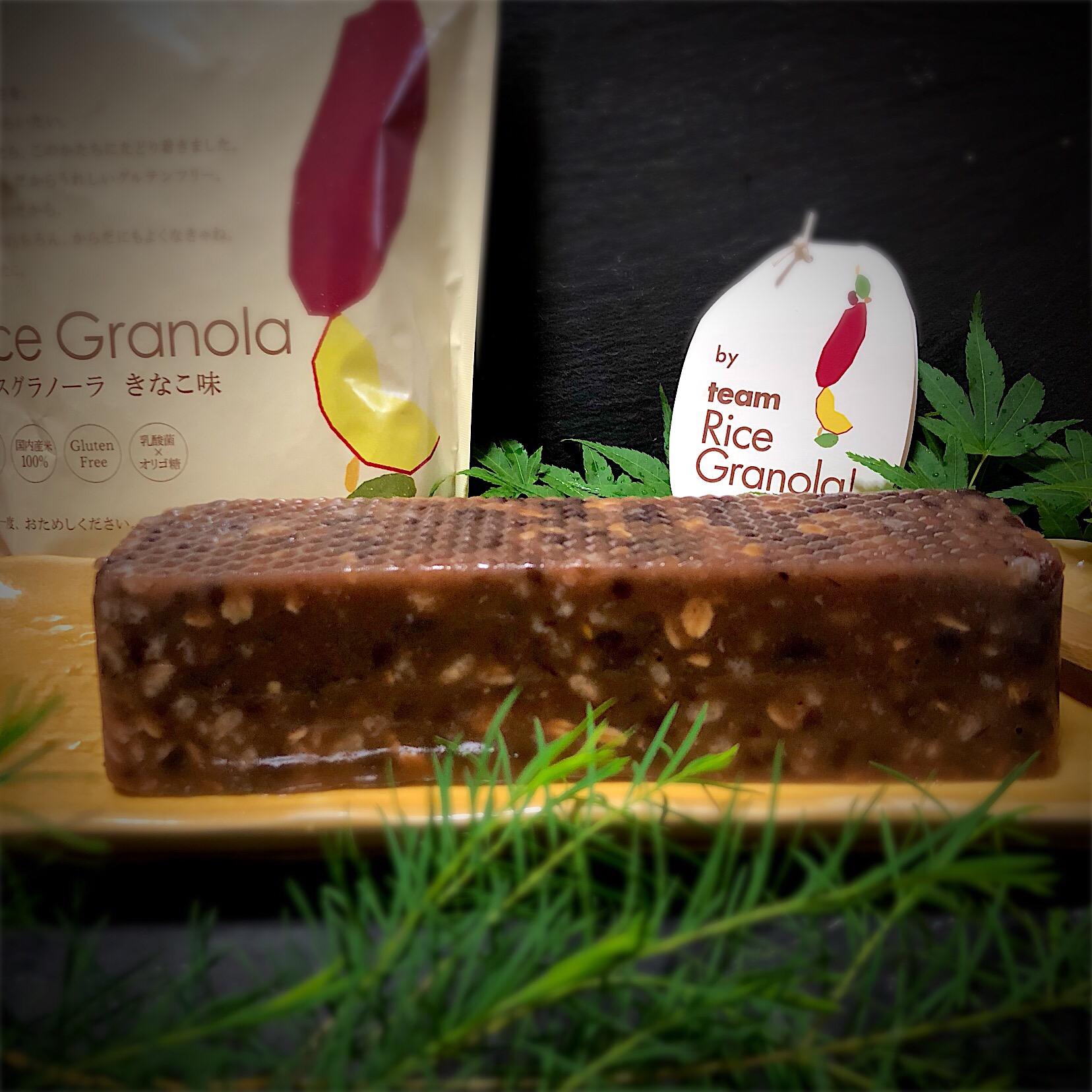 ライスグラノーラきなこ味で羊羹 #teamricegranola  #グルテンフリー  #ライスグラノーラきなこ味