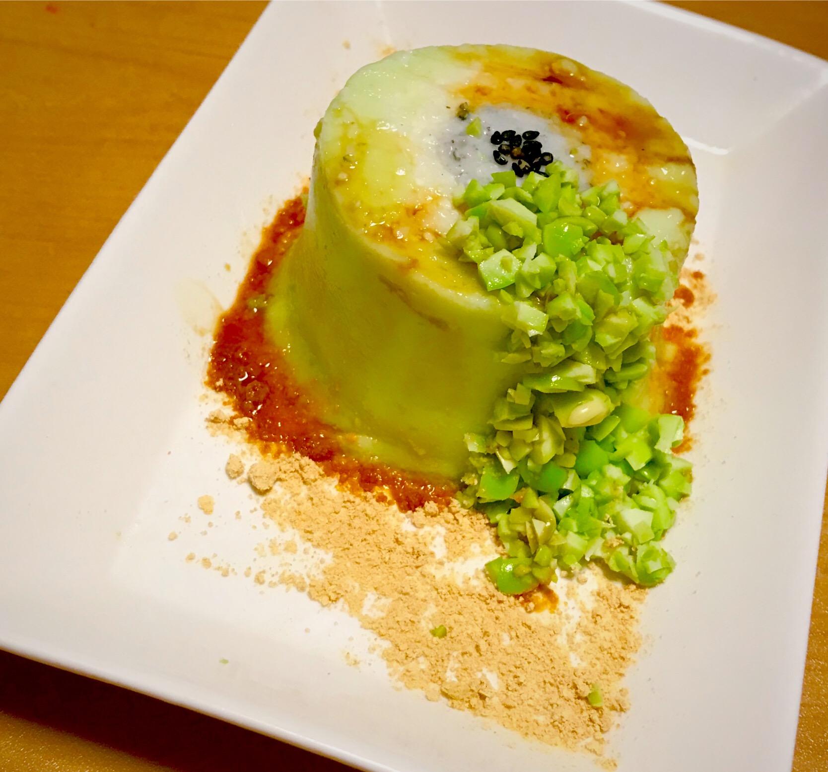 枝豆の豆腐ババロア