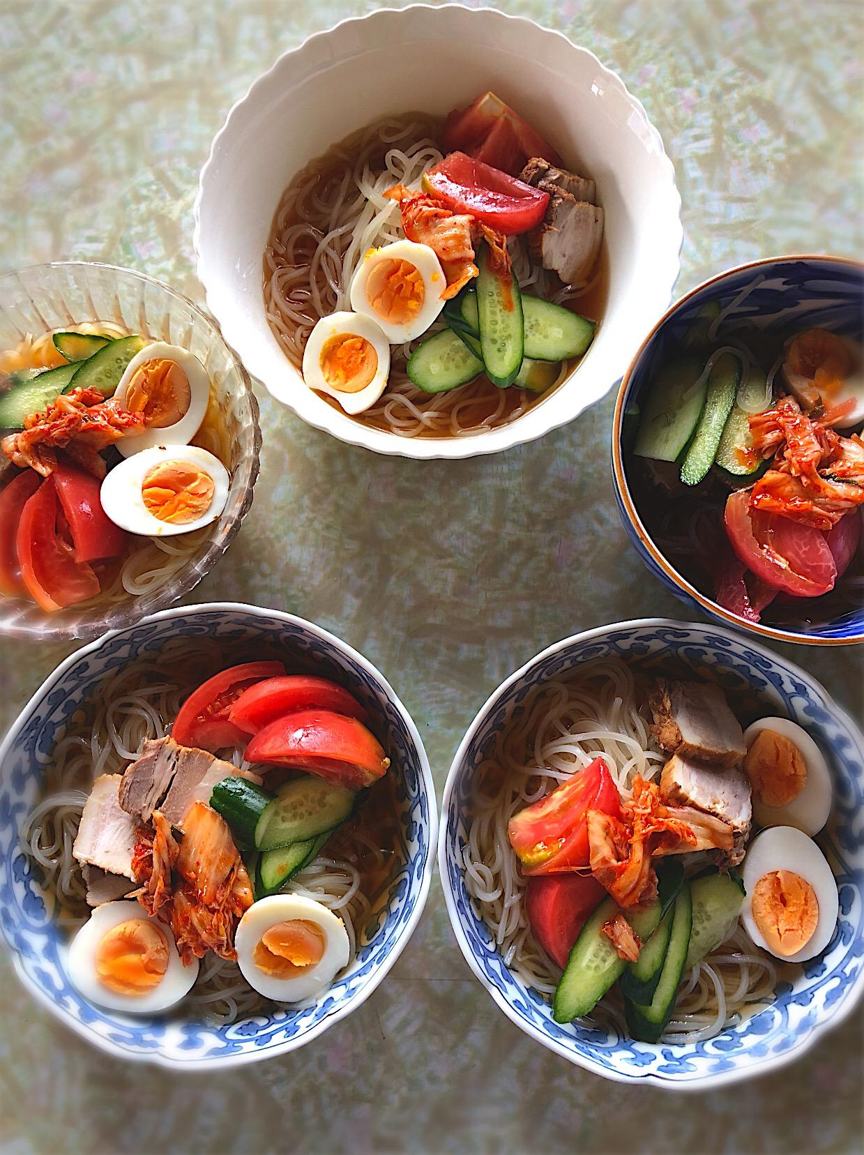韓国冷麺 5色分 焼豚は自家製