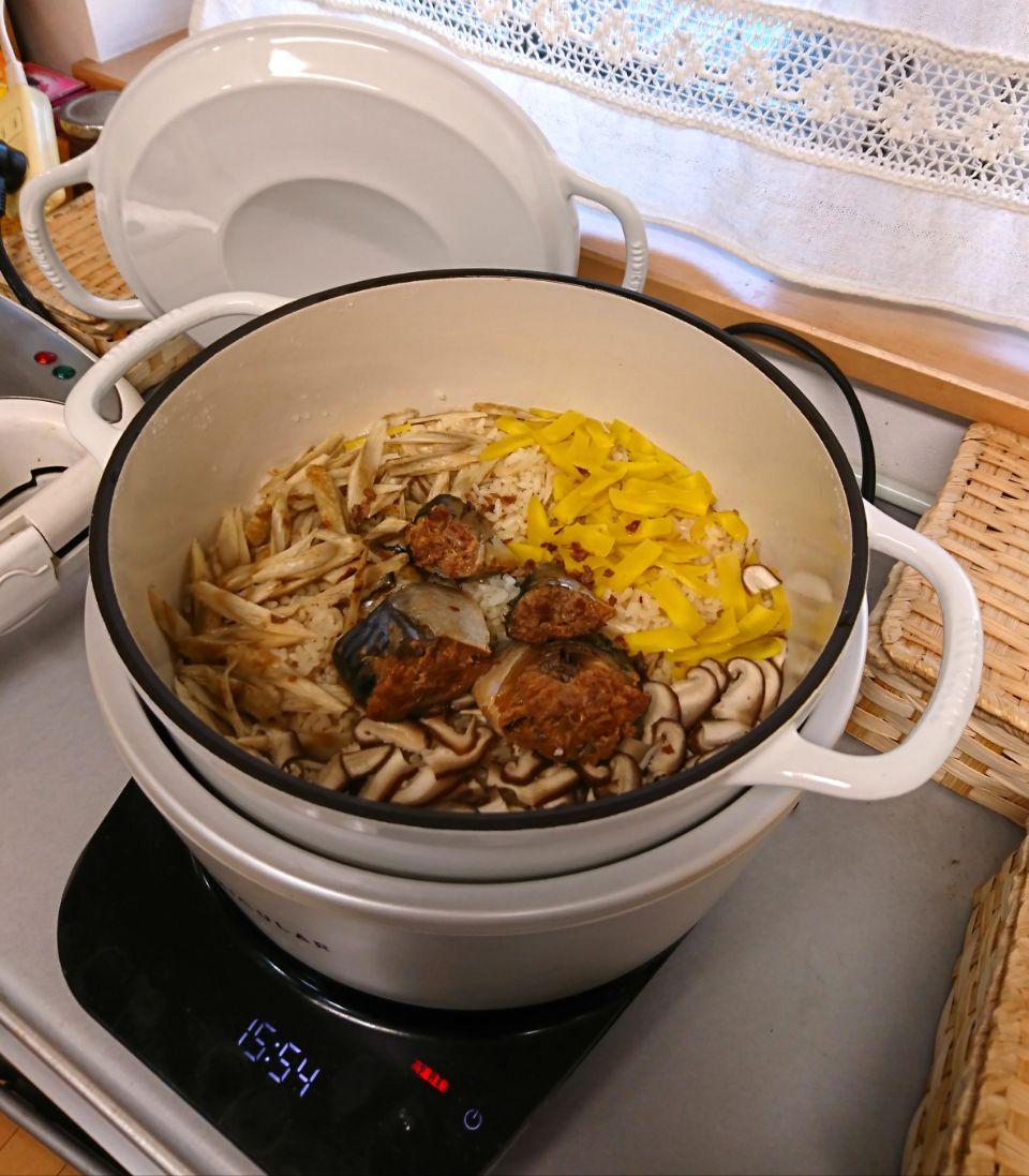 『サバ缶炊き込みご飯』