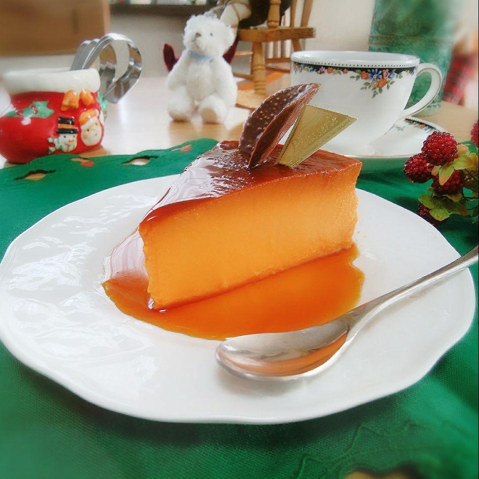 ばろんさんの今日のおやつ?かぼちゃプリン?✨