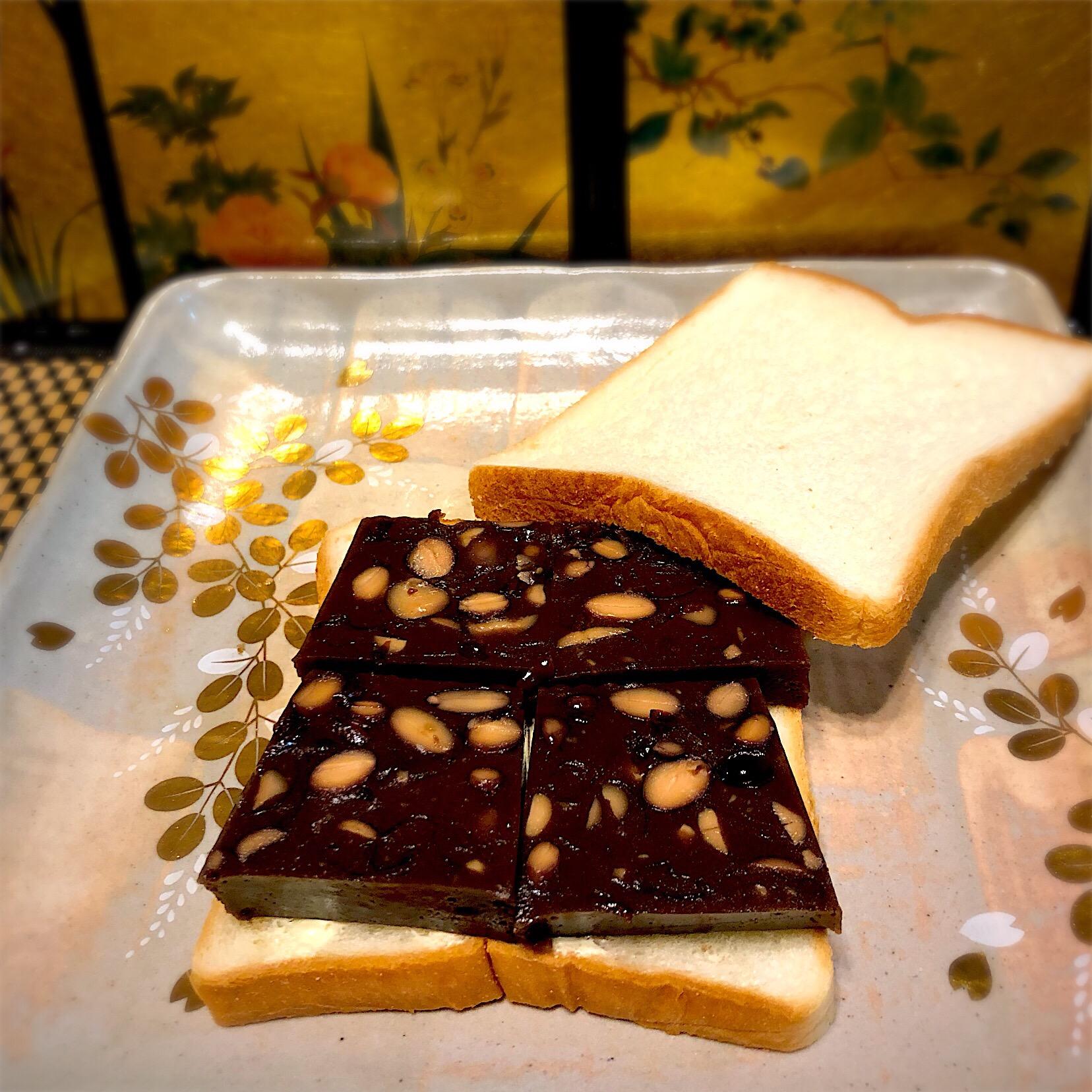佐野未起の料理 黒豆水ようかん #御節救済 羊羹パン