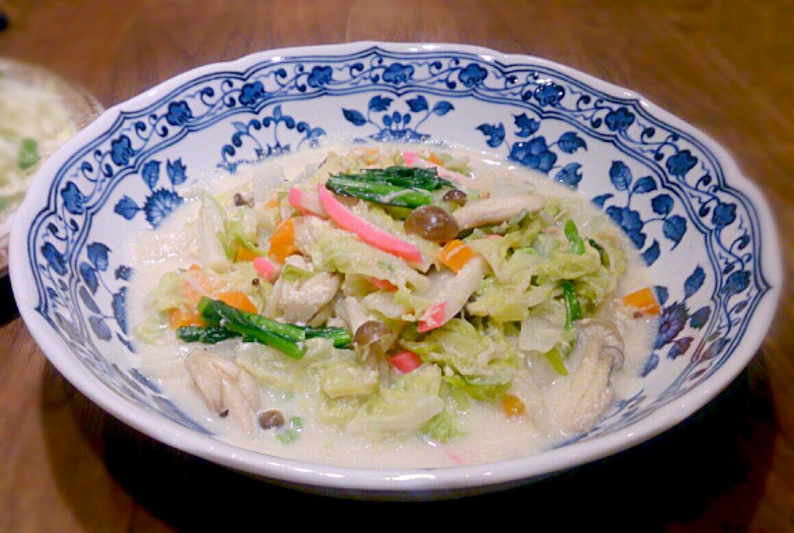 白菜のちゃんぽん風煮込み