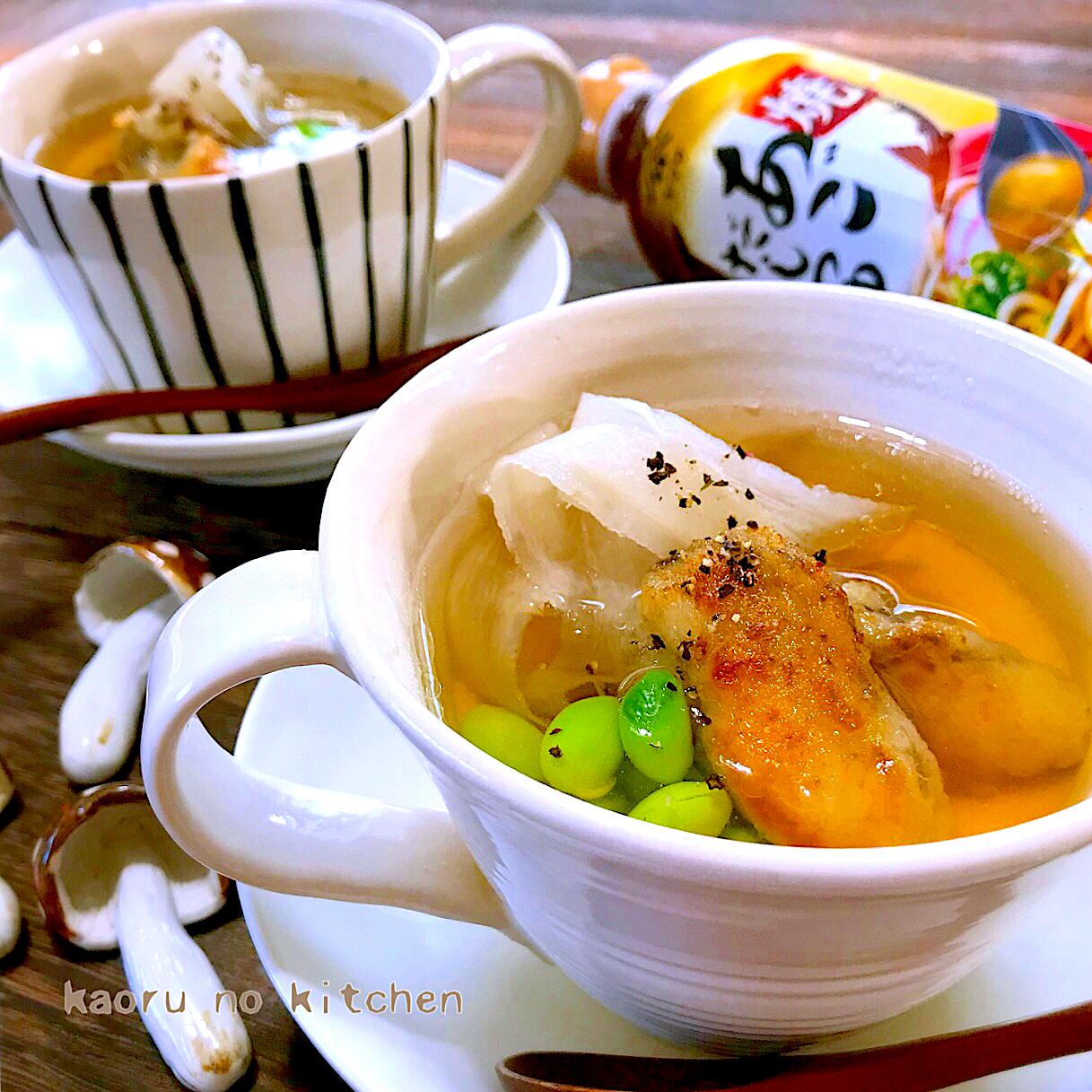 牡蠣とごぼうのフラン風スープ?