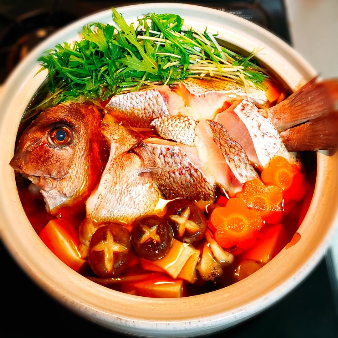 愛媛 愛の瀬 真鯛で 鯛鍋?