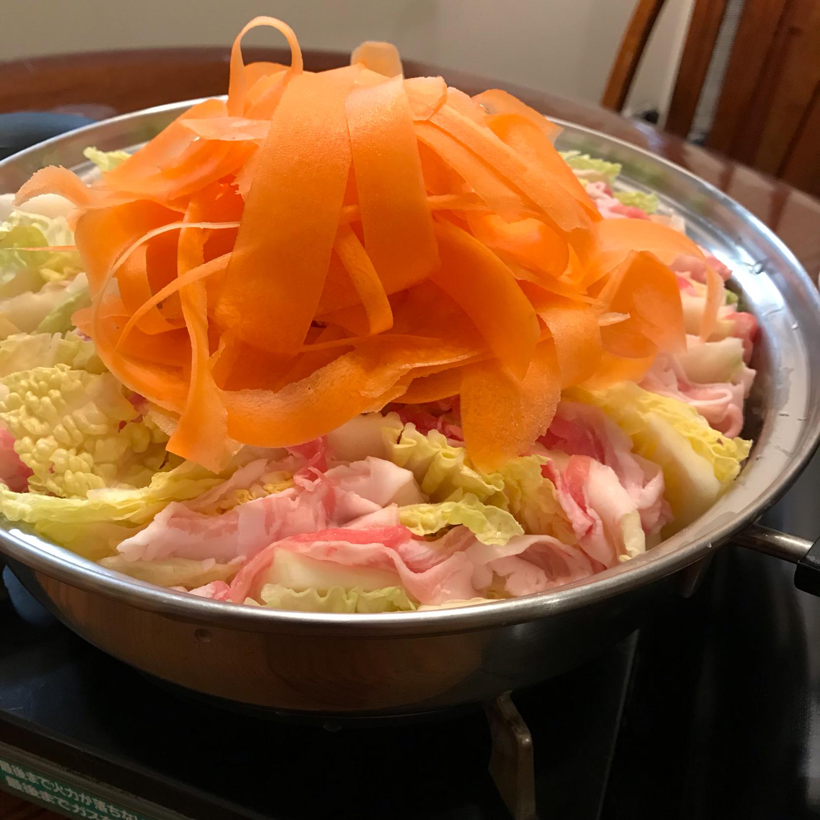 豚バラ肉と白菜のミルフィーユ鍋