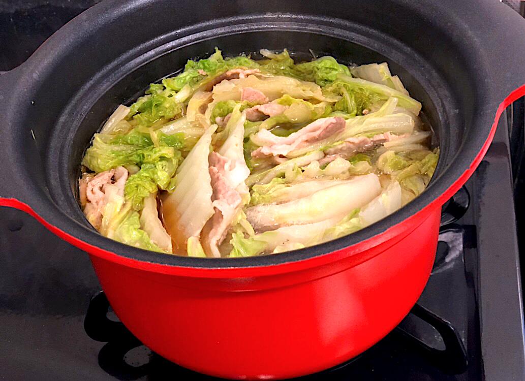 鶏ガラスープで作るミルフィーユ鍋♡