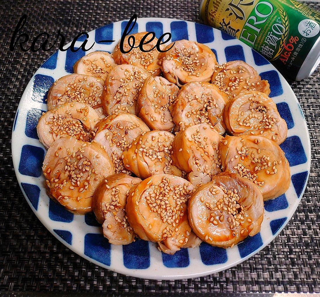 お弁当やおつまみに♪レンジで簡単♪基本の甘辛鶏チャーシュー