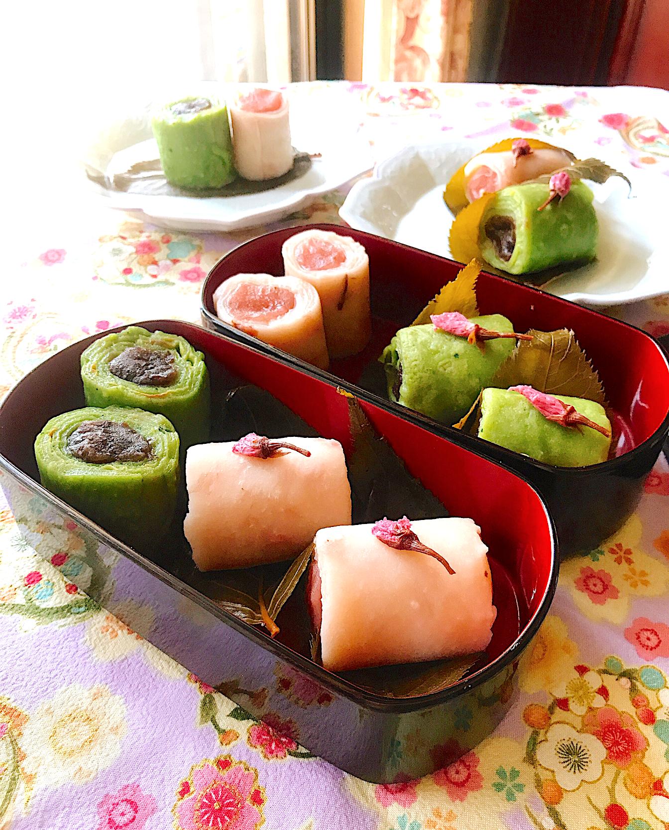 くるくる桜餅~おうちでお花見🌸