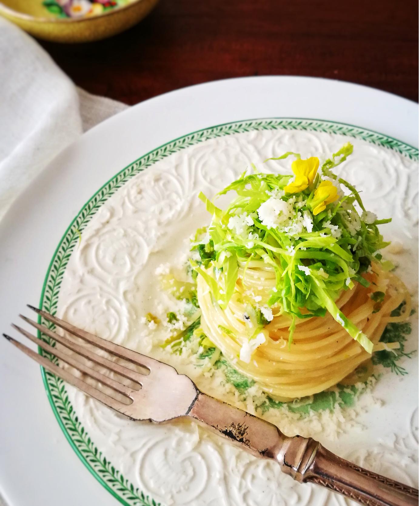 セロリ の葉っぱのスパゲティ