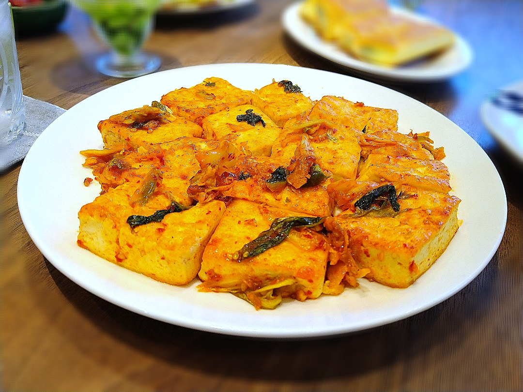キムチ焼き豆腐