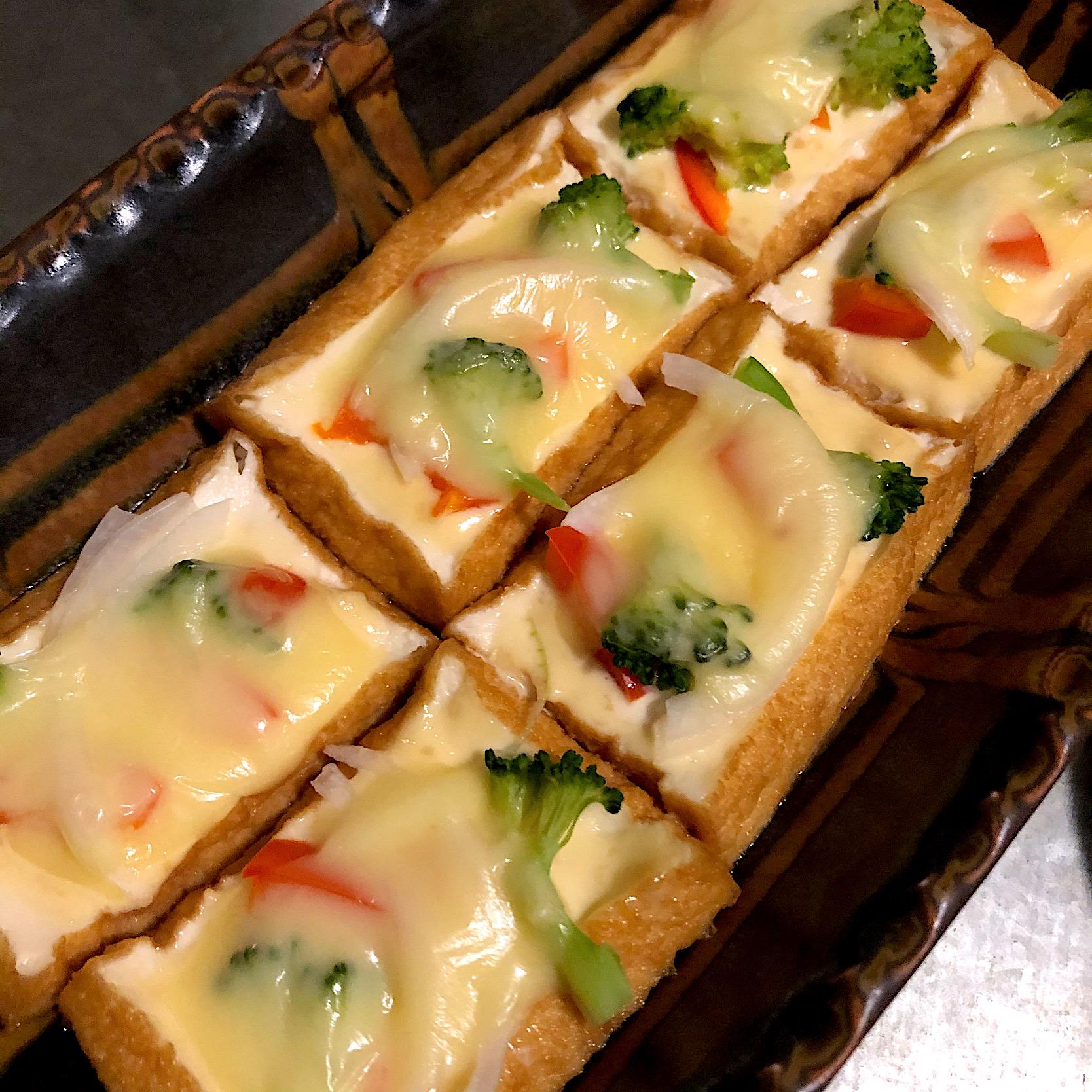 厚揚げ味噌マヨチーズ焼き