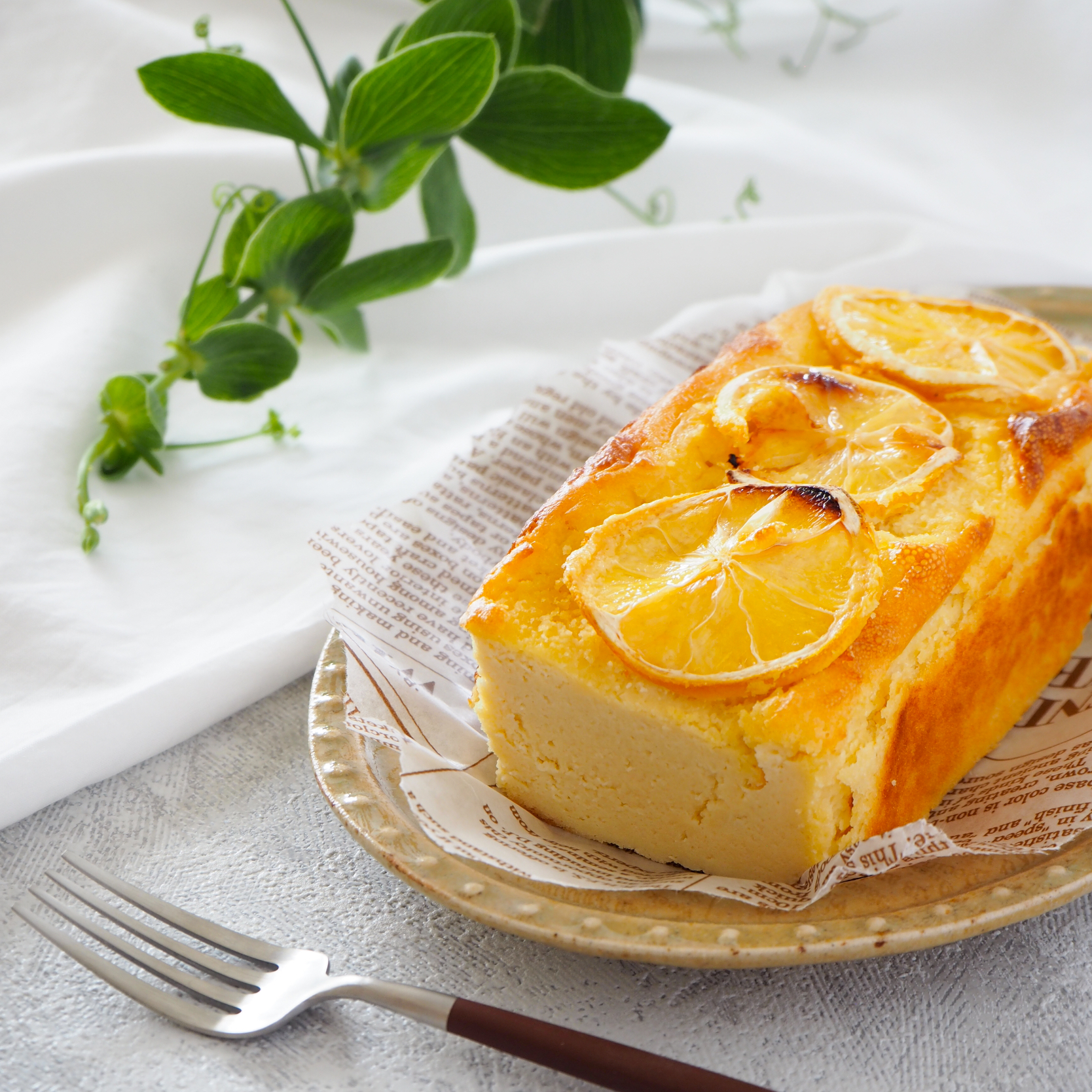 【糖質オフ、バター不要】レモンチーズパウンドケーキ