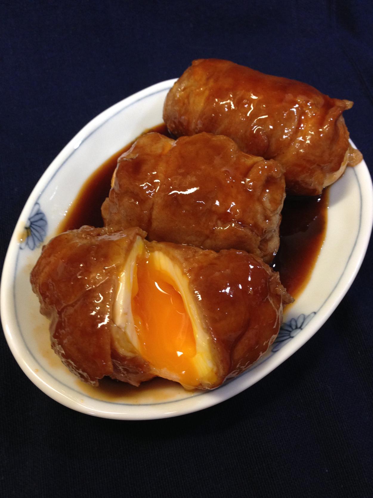 🌿食べ過ぎ注意!危険なおかず トロりん半熟卵のトンテキ肉巻き🌿